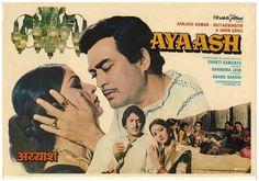 Poster for movie AYAASH. Sanjeev Kumar makes it worth watching! Sanjeev Kumar, Bollywood Posters, Great Movies, Lyrics, Films, Actors, Hot, Movies, Song Lyrics