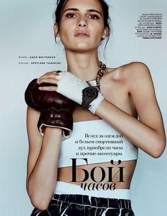 Iana Godnia by Svetlana Tanakina for Vogue Russia March 2015