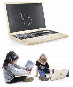 Un giocattolo creativo a forma di laptop. Donkey Products, made in Germany – via SwissMiss.