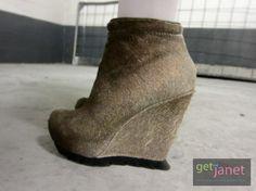 Camilla Skovgaard Antler Pony Hair Wedge Boots