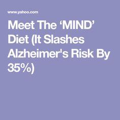 Meet The 'MIND' Diet (It Slashes Alzheimer's Risk By 35%)
