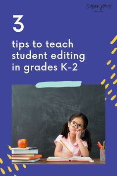 Teaching students to edit their work during writing workshop can be a difficult process. In this blog post, I share 3 tips to help make editing easier in your kindergarten, first grade, and second grade classrooms!