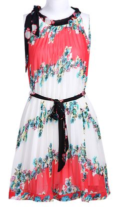 Floral Chiffon Boho Dress <3