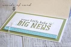 By Teneale Williams | INKspired Blog Hop Sketch #INK020 | Made with Love Stamp Set Baby Card
