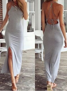 Square Neck Sleeveless Backless Furcal Women's Dress