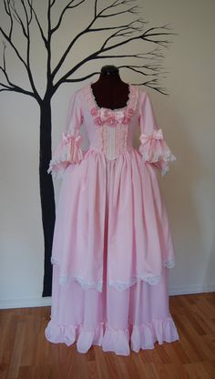 Pretty in Pink Marie Antoinette Victorian inspired by hhfashions, $220.00