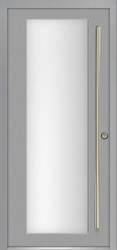 Milano-12 Silver modern exterior door by Milano Doors