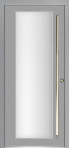 I love this as the new entry door with side lights in a dark powder coating. modern exterior door Milano-12 Silver