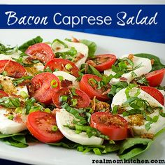 Bacon Caprese Salad - Real Mom Kitchen