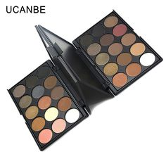 UCANBE 15 color pigment shimmer eyeshadow palette makeup palette glitter and nude eye shadow palette