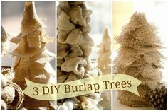 3 Easy DIY Burlap Trees - Duke Manor Farm