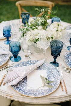 Garden party table: http://www.stylemepretty.com/living/2015/04/30/outdoor-garden-dinner-soiree/   Photography: Krista Mason - http://www.kristamason.com/