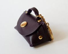 Coin Purse Mini Handbag Leather Coin Bag in Dark by starryday, $16.00