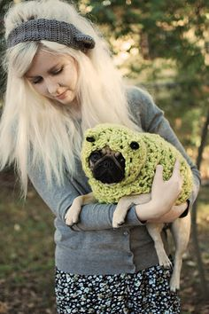 adorable crochet pug (or any doggie! or kitty?) sweater hoodie.