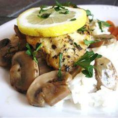 Baked Lemon Chicken with Mushroom Sauce Allrecipes.com