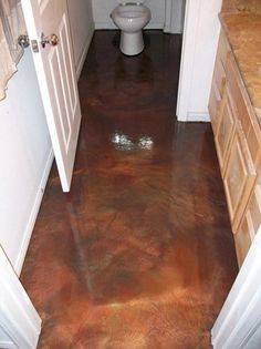 Love stained concrete!  This is beautiful!