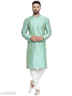 Kurta Sets Modern Fancy Men's Kurta Set Top Fabric: Silk Bottom Fabric: Silk Stitch Type: Stitched Sizes: S (Top Bust Size: 36 in Top Length Size: 46 in Bottom Waist Size: 28 in Bottom Length Size: 40 in)  XL (Top Bust Size: 42 in Top Length Size: 46 in Bottom Waist Size: 34 in Bottom Length Size: 40 in)  L (Top Bust Size: 40 in Top Length Size: 46 in Bottom Waist Size: 32 in Bottom Length Size: 40 in)  M (Top Bust Size: 38 in Top Length Size: 46 in Bottom Waist Size: 30 in Bottom Length Size: 40 in)  XXL (Top Bust Size: 44 in Top Length Size: 46 in Bottom Waist Size: 36 in Bottom Length Size: 40 in) Country of Origin: India Sizes Available: S, M, L, XL, XXL   Catalog Rating: ★4 (468)  Catalog Name: Ethnic Men Kurta Sets CatalogID_657544 C66-SC1201 Code: 776-4544066-3081