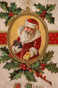 Santa Claus Post Card Christmas 1912 Great Condition