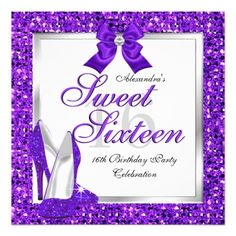 Purple Sweet 16 Party Sweet Sixteen Silver 2