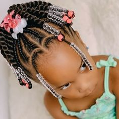 Little Girl Braid Styles, Little Girl Braid Hairstyles, Toddler Braided Hairstyles, Toddler Braids, Black Kids Hairstyles, Kid Braid Styles, Little Girl Braids, Baby Girl Hairstyles, Natural Hairstyles For Kids
