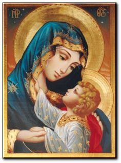 Blessed Mother and her baby Jesus Blessed Mother Mary, Divine Mother, Blessed Virgin Mary, Religious Pictures, Religious Icons, Religious Art, Jesus And Mary Pictures, Mary And Jesus, Catholic Wallpaper