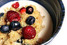 Fruity Quinoa Breakfast ... maybe add some cinnamon too :)