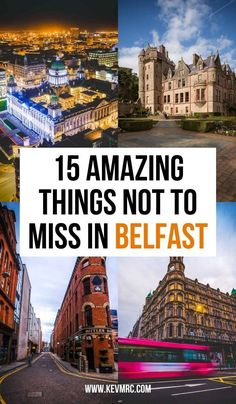 The 15 amazing things not to miss in Belfast Ireland. things to do in belfast northern ireland | belfast northern ireland photography | belfast ireland things to do | belfast ireland city | belfast city things to do | what to do in belfast ireland Dream Vacation Spots, Dream Vacations, Belfast City, Belfast Castle, Best Of Ireland, Belfast Northern Ireland, Ireland Travel, Cool Places To Visit, Green Dome