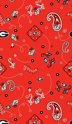 NCAA Cotton Fabric- Georgia Bandana at Joann.com