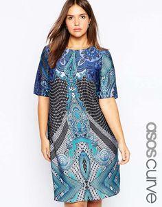 ASOS+CURVE+Printed+T-Shirt+Dress