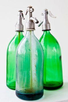 old school soda bottles.