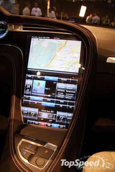 Tesla Model S initial dash concept - the only way it could have been better.