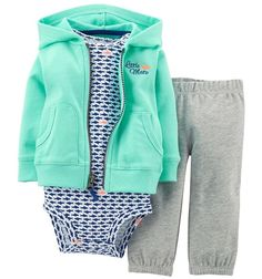 Baju Setelan Bayi & Anak Carter's 3in1 Cardigan Set - Little Mate