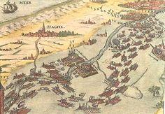 De watergeuzen bevrijden Leiden in 1573 Dutch Revolt, Old Maps, Historical Maps, Leiden, 16th Century, Genealogy, Netherlands, Holland, Vintage World Maps