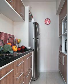 Cozinha com armários dos dois lados!! - Apê de 42 m² com espaço bem aproveitado - Casa