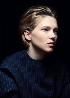 Lea Seydoux- it takes an amazingly beautiful face to pull that hair. love it.