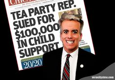 Don't tell me . . .the Tea Party claims to support individual responsibility; yet, they are topping the list when it comes to behaving irresponsibly and not providing for their children.  Teabagger Joe Walsh is a deadbeat dad...and a deadbeat dad is hardly a role model for individual responsibility.