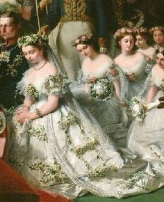"""Royal wedding of Queen Victoria and Prince Albert. The wedding took place in The Chapel Royal of St. James' Palace. Victoria married her first cousin, Prince Albert of Saxe-Coburg and Gotha, in 1840. Their nine children married into royal and noble families across the continent, tying them together and earning her the nickname """"the grandmother of Europe""""."""