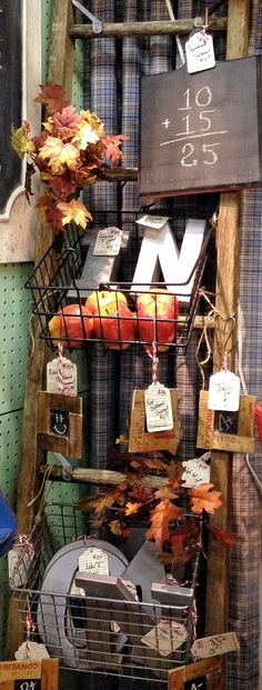 Ladder Back to School Display, The Turned Leg, Plaza Antiques & Collectibles Mall, Booth 134
