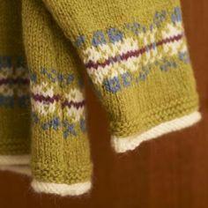 Blacker Swan Girl's Fair Isle Raglan Swing Cardigan and Beret free knitting pattern $0.00