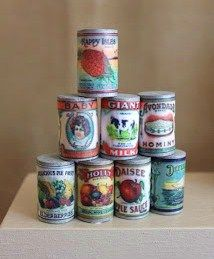 how to: making cans with labels.....good tutorial....scroll down through others