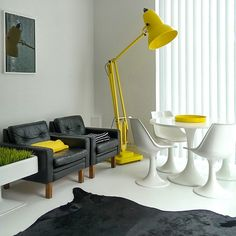 Anglepoise Giant 1227™ floor lamp in Citrus Yellow at Talo Luck, Finland.