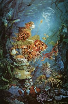 Fantasies of the Sea by James C. Christensen.