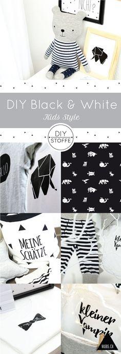 Black & White DIYs für´s Kinderzimmer - alle Zutaten finedet Ihr bei diy-stoffe.de