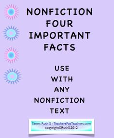 Help your students select four important facts from any nonfiction text! FREE