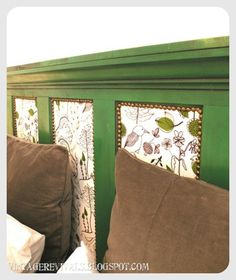 Door headboard - more comfortable with some upholstery and foam