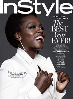 Editorials. Viola Davis. InStyle January 2016.