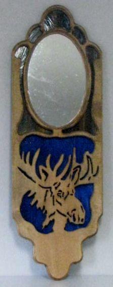 Mirror with moose design