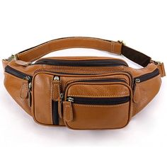 51d9a1455f9c5 Men Genuine Leather Vintage Multi-function Large Capacity Waist Bag Outdoor  Casual Crossbody Bag is hot-sale