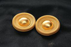 Vintage Goldtone Ann Taylor Earrings Vintage by HuldasTreasures