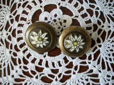 Edelweiss Buttons Enamel Vintage